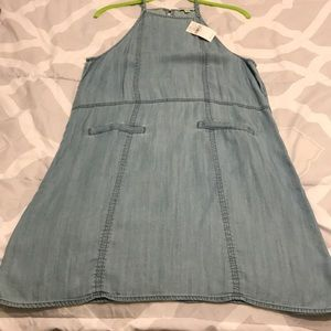 Denim sleeveless dress!